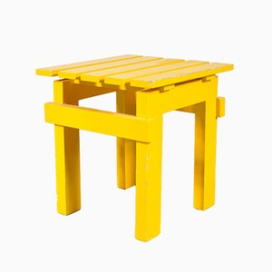 Vintage Yellow Stool, 1950s