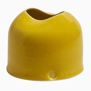 Vaso da tavolo giallo di Tanya Gomez