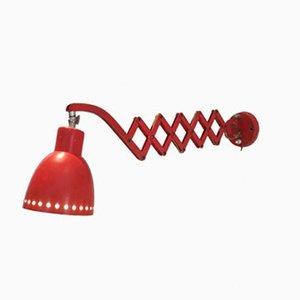 Niederländische Scheren Wandlampe von H. Th. J. A. Busquet für Hala, 1960er