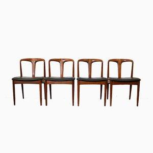 Dänische Juliane Teak Esszimmerstühle von Johannes Andersen für Uldum Møbelfabrik, 1950er, 4er Set