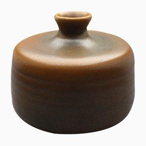 Braune Deutsche Vase von Heiner Balzar, 1960er