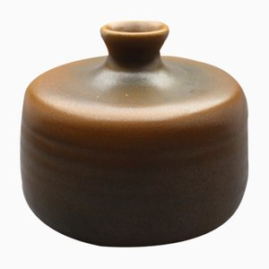 German Brown Vase by Heiner Balzar, 1960s