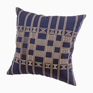 Coussin Décoratif Minna Bleu Indigo par Nzuri Textiles