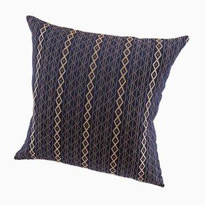Cojín Mbake decorativo en azul índigo de Nzuri Textiles