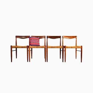 Palisander Esszimmerstühle von H.W. Klein für Bramin, 4er Set