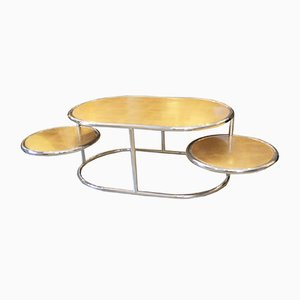 Italian Oval Occasional Coffee Table from Liwans, 1970s