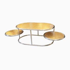 Tavolino da caffè ovale di Liwans, Italia, anni '70