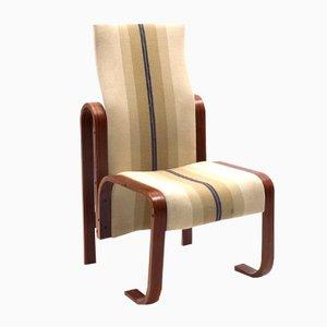 Sedia con schienale alto in legno curvato di Jan Bočan, 1972