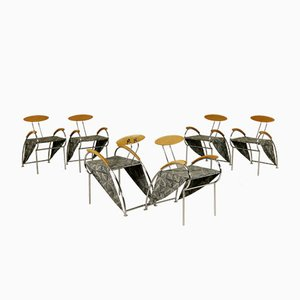 Velox Lounge Chairs by Massimo Iosa Ghini for Moroso 1990, Set of 6