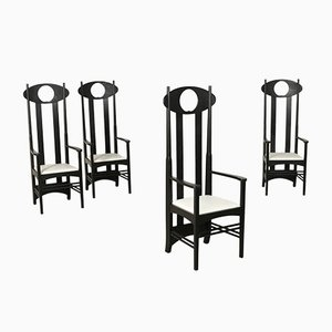 Italian Dining Chairs by Charles Rennie Mackintosh for Heart of Danemark APS, 1980s, Set of 4