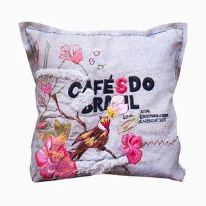 Coussin Cafés do Brasil par Bokja