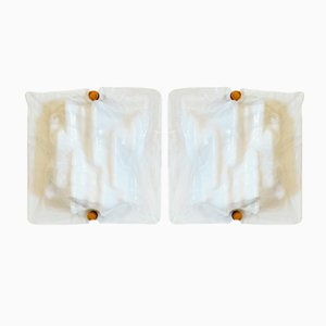 Mid-Century Murano Glass Sconces by Toni Zuccheri for Venini, Set of 2