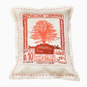Vintage Briefmarken Kissen von Bokja