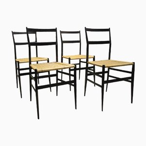 Italian Chairs by Gio Ponti for Cassina, Set of 4