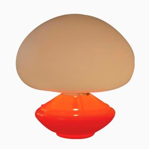Vintage Orange Glass Table Lamp from Flos