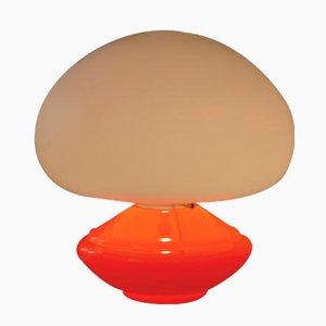 Vintage Orangefarbene Glas Tischlampe von Flos