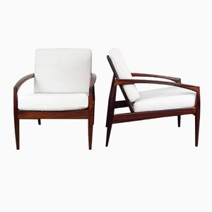 Rosewood Paper Knife Chairs by Kai Kristiansen for Magnus Olesen, 1955, Set of 2