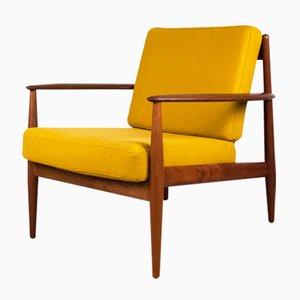 Dänischer Teak Lounge Armlehnstuhl von Grete Jalk, 1960er