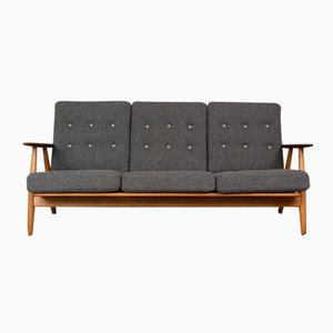 GE-240 Cigar Oak & Teak Sofa by Hans Wegner for Getama, 1955