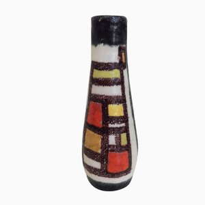 Italian Glazed Ceramic Vase by Guido Gambone, 1950s