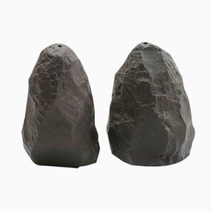 Salt & Pepper in Black Basalt from the Crockery Series by Max Lamb for 1882 Ltd