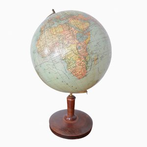 Globe de Peter J. Oestergaard, Allemagne, 1920s