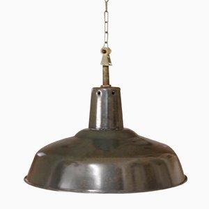 Lámpara de techo francesa industrial esmaltada