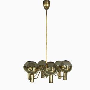 Lámpara de araña Patricia sueca de latón de Hans-Agne Jakobsson, años 60