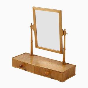 Espejo de mesa de cerezo pulido de Hans-Agne Jakobsson, años 50