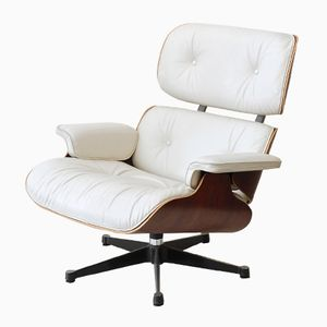 German White Swivel Chair by Charles Eames for Vitra, 1950s
