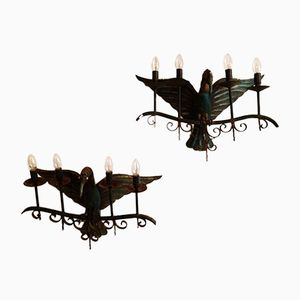 Flying Bird Spanish Wall Lights, Set of 2