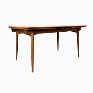 Tavolo da pranzo allungabile AT-312 in teak e quercia di Hans J. Wegner per Andreas Tuck