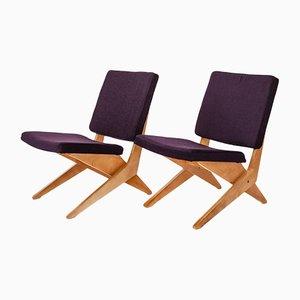 FB18 Scheren Beistelllehnstühle von Jan van Grunsven für Pastoe, 1962, 2er Set