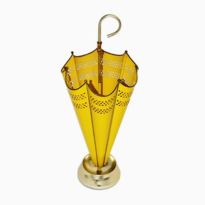 Yellow Italian Umbrella Stand, 1950s