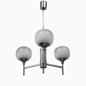 Lámpara de araña francesa de cristal de Murano, años 70