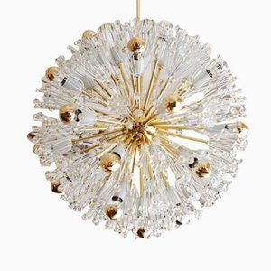 Large Austrian Brass and Glass Sputnik Chandelier by Emil Stejnar for Rupert Nikoll, 1955