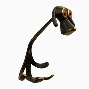 Viennese Dog Wall Hook by Walter Bosse for Hertha Baller, 1955