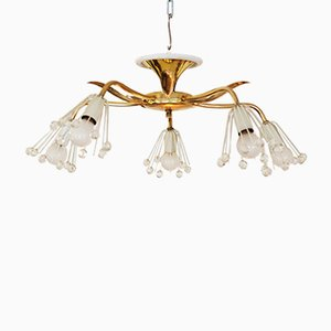 Mid-Century Brass Chandelier by Emil Stejnar for Rupert Nikoll