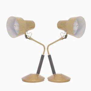 Lámparas de mesa Luxo L-11 noruegas de Jac Jacobsen, años 50. Juego de 2