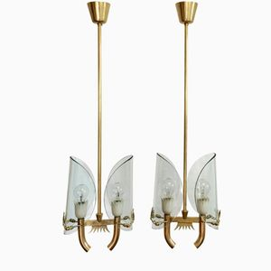 Italian Pendants by Pietro Chiesa for Fontana Arte, 1930s, Set of 2