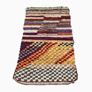 Vintage Boucherouite Moroccan Berber Rag Rug