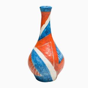 Jarrón italiano grande de cerámica de Guido Gambone, 1951