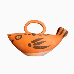 Mid-Century Fish Pitcher by Picasso for Madoura