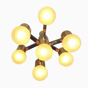 Italian Ceiling Light by Gaetano Sciolari, 1970s