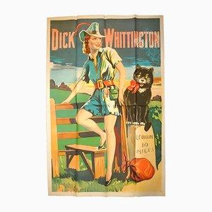 Affiche Vintage du Mime Dick Whittington par Taylors of Wombwell, Angleterre, 1930s
