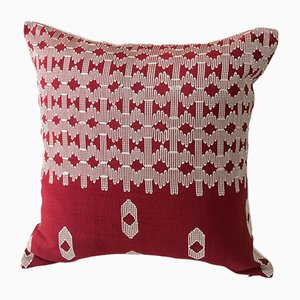 Cuscino decorativo Edo rosso e bianco di Nzuri Textiles, 2015