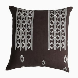 Edo Decorative Brown and White Pillow by Nzuri Textiles, 2015