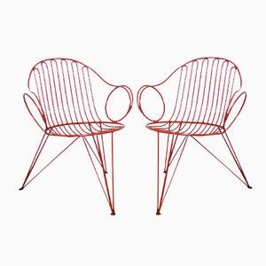 Deutsche Gartenstühle von Mauser Werke, 1950er, 2er Set