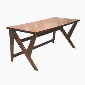 Tavolo da conferenza in teak di Pierre Jeanneret, 1963