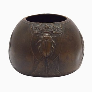 Swedish Art Nouveau Bronze Bowl by Hugo Elmqvist, 1900s